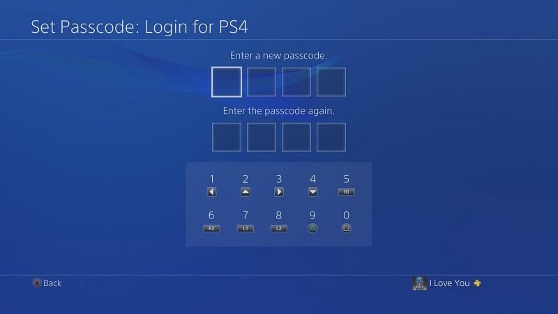 ایجاد رمز بر روی کنسول PlayStation 4